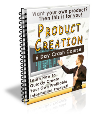 Product picture Product Creation 6 Day Crash Course (PLR)
